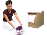 Boite de papier mousse blanc